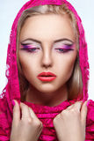 Close up portrait of beauty woman with makeup Stock Photo