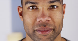 Close up portrait of a Black man's face Royalty Free Stock Photography