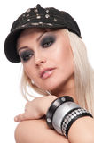 Close up portrait of blond woman Royalty Free Stock Photography