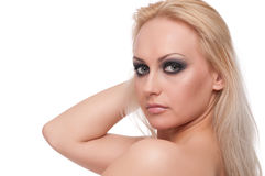 Close up portrait of blond woman Stock Images