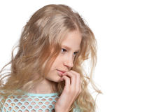 Close up portrait of blonde girl Royalty Free Stock Images