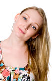 Close-up portrait of blonde. Royalty Free Stock Photos