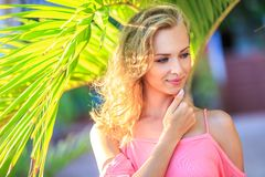 Close-Up Portrait Of Blonde Woman Royalty Free Stock Photo
