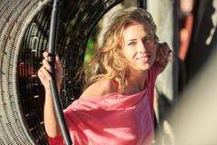 Close-Up Portrait Of Blonde Woman Stock Photos
