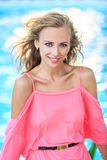 Close-Up Portrait Of Blonde Woman Royalty Free Stock Photography