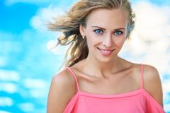 Close-Up Portrait Of Blonde Woman Stock Photography