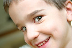 Close-up Portrait of Boy Stock Photo
