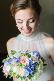 Close up portrait of bride Stock Photography