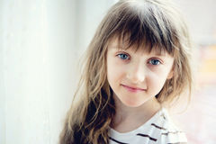 Close-up portrait of brunette child girl Royalty Free Stock Photo