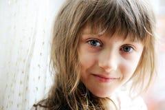 Close-up portrait of brunette child girl Stock Image