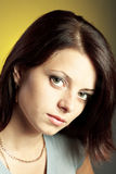 Close up portrait of brunette woman Royalty Free Stock Photo