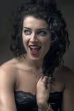 Close up portrait of brunette woman Stock Photos