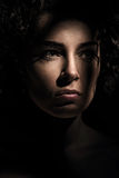 Close up portrait of brunette woman Stock Photography