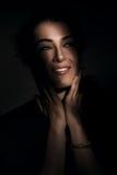 Close up portrait of brunette woman Stock Images