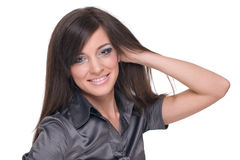 Close up portrait of business woman Stock Image