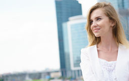 Close up portrait of a business woman outdoor Royalty Free Stock Photo