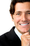 Close up portrait of businessman royalty free stock images