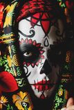 Sugar skull make-up royalty free stock photo