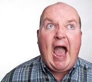 Close up portrait capture of overweight male Royalty Free Stock Images