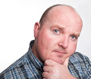 Close up portrait capture of overweight male Stock Photo