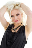 Close up portrait of casual blond posing Royalty Free Stock Images