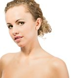 Close-up portrait of caucasian young woman Royalty Free Stock Image