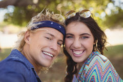 Close up portrait of cheerful couple Stock Photo