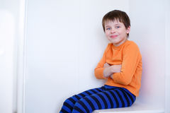Close-up portrait of cheerful little boy Royalty Free Stock Photography