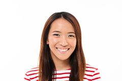 Close up portrait of a cheerful young asian girl Royalty Free Stock Photo