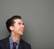 Close up portrait of a cheerful young business man Royalty Free Stock Images