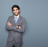 Close up portrait of a cheerful young businessman Stock Image