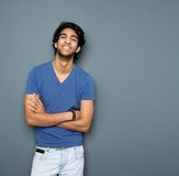 Close up portrait of a cheerful young man Stock Photo