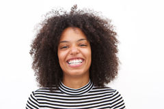 Close up confident african american woman laughing Royalty Free Stock Photography