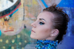 Close-up portrait of creative woman Stock Photography