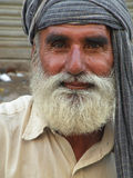 Close-up Portrait of Crippled Beggar. Sitting on street of karachi, Sindh , Pakistan Stock Photography