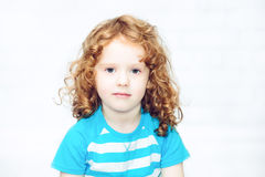 Close-up portrait of a curly girl Stock Photos