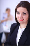 Close-up portrait of a customer service agent Royalty Free Stock Images