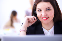 Close-up portrait of a customer service agent Royalty Free Stock Photography