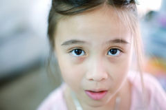 Close up portrait of cute girl Stock Images