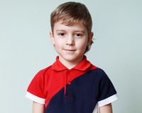 Close up portrait of a cute little boy Royalty Free Stock Photo