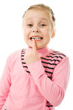 Close up Portrait of cute little girl Royalty Free Stock Photography