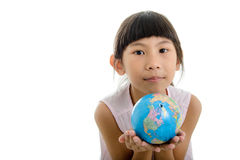 Close up Portrait of cute little girl Royalty Free Stock Images