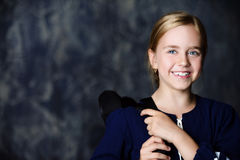 Pretty smiling schoolgirl Royalty Free Stock Images
