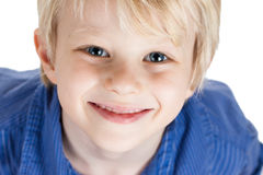 Close-up portrait of cute young boy Royalty Free Stock Images