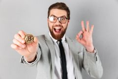 Close up portrait of a delighted businessman Stock Photography