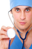 Close-up portrait of doctor with stethoscope Stock Photo