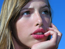 Portrait of dreaming teenage girl Royalty Free Stock Photography