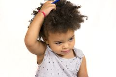 Cute child with beautiful features Royalty Free Stock Photography