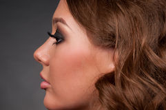 Close-up portrait of elegance glamour woman Royalty Free Stock Image