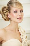 Close-Up Portrait of an Elegant Bride Stock Photography